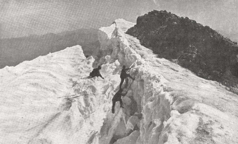Associate Product SAVOIE. Grandes- Rousses. Glacier de Saint- sorlin 1900 old antique print