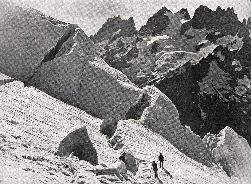 Associate Product HAUTES- ALPES. Le Glacier de la plate des Agneaux et la grande- ruine 1900