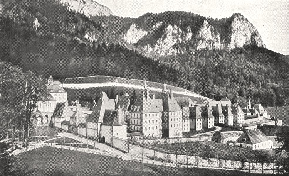 Associate Product ISÈRE. Vue Générale de la Grande- chartreuse 1900 old antique print picture