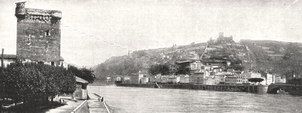 Associate Product ISÈRE. Vienne. Tour de Philippe de Valois et Ancien fort de la Batie 1900