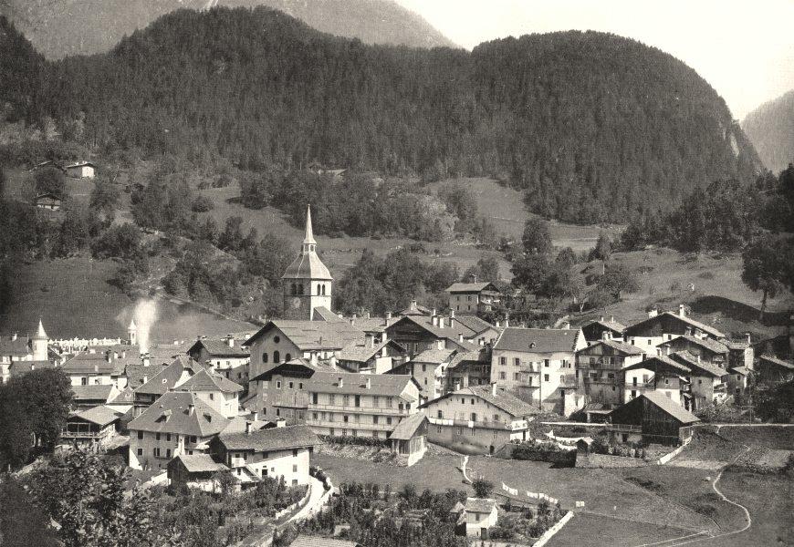 Associate Product SAVOIE. Beaufort- sur- doron (Savoie)  1900 old antique vintage print picture