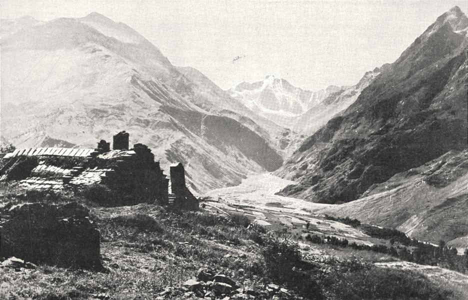 Associate Product HAUTES- ALPES. Romanche Vallée D'arsines; Fond. pic des Agneaux 1900 old print