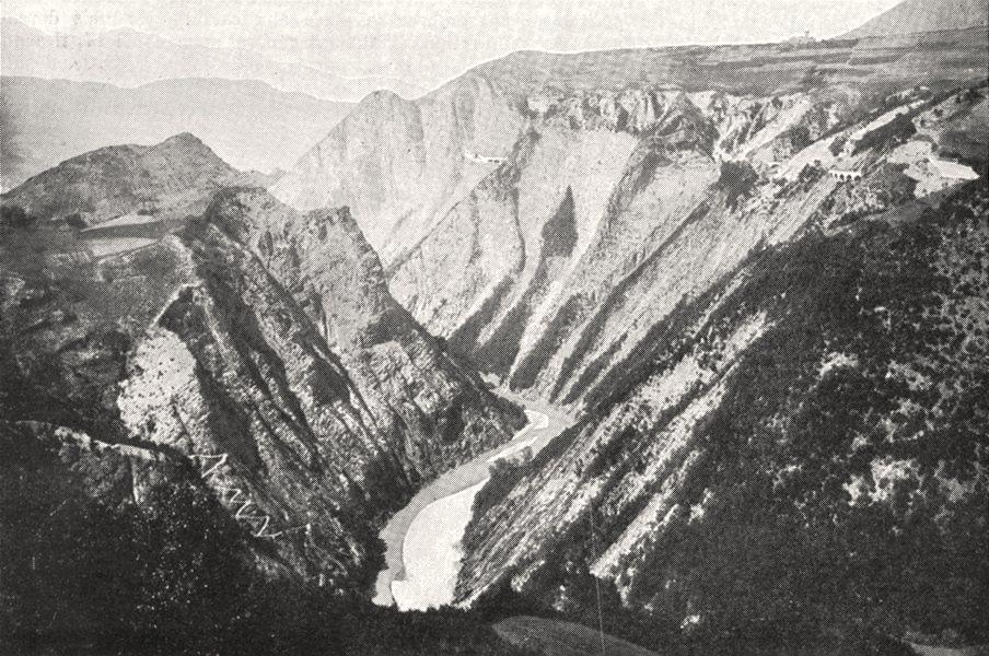 Associate Product ISÈRE. Les Gorges du Drac, Sous la Mure 1900 old antique vintage print picture