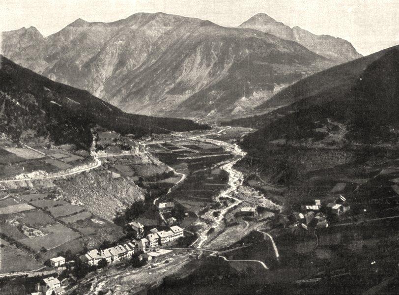 Associate Product HAUTES- ALPES. Vallée de la Durance, Près de Briançon 1900 old antique print