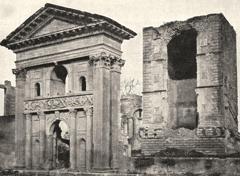 Associate Product VAUCLUSE. La Tour D'aigues. Donjon et grand portail 1900 old antique print