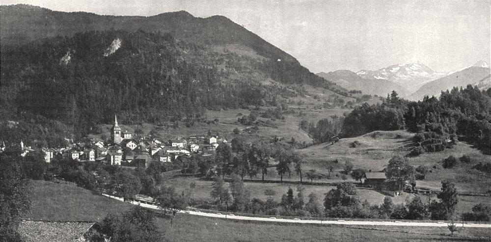 Associate Product SAVOIE. Vallée du Doron, a Beaufort (Savoie)  1900 old antique print picture
