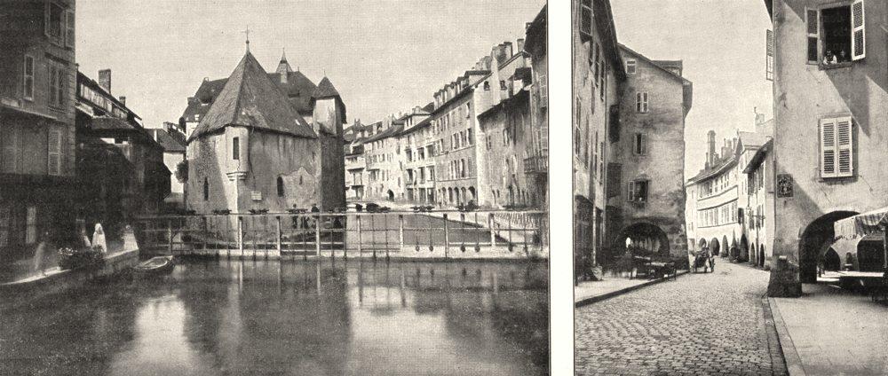 Associate Product HAUTE- SAVOIE. Annecy. Ancien Présidial; Les Portiques 1900 old antique print