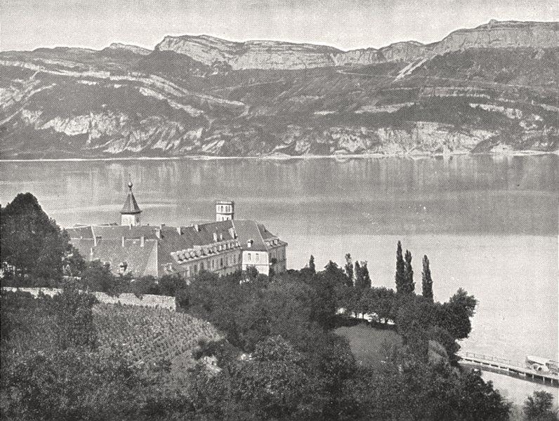 Associate Product SAVOIE. Abbaye de Hautecombe et lac du Bourget (Savoie)  1900 old print