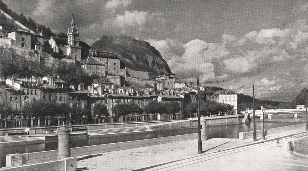 Associate Product ISÈRE. Grenoble, L'isère et le Saint- Eynard 1900 old antique print picture