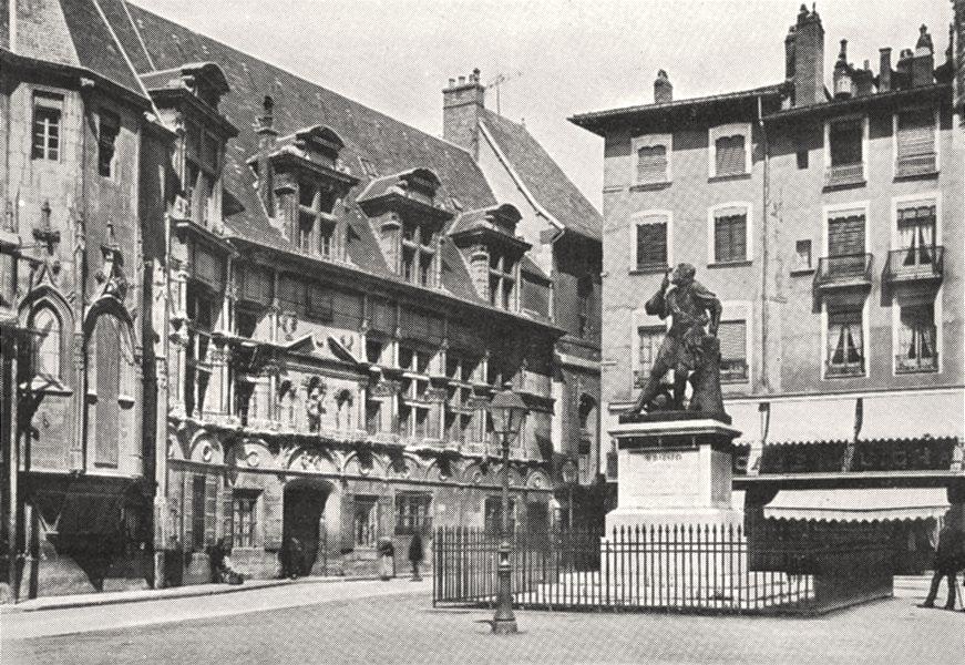 Associate Product ISÈRE. Grenoble. Palais de Justice et statue de Bayard 1900 old antique print