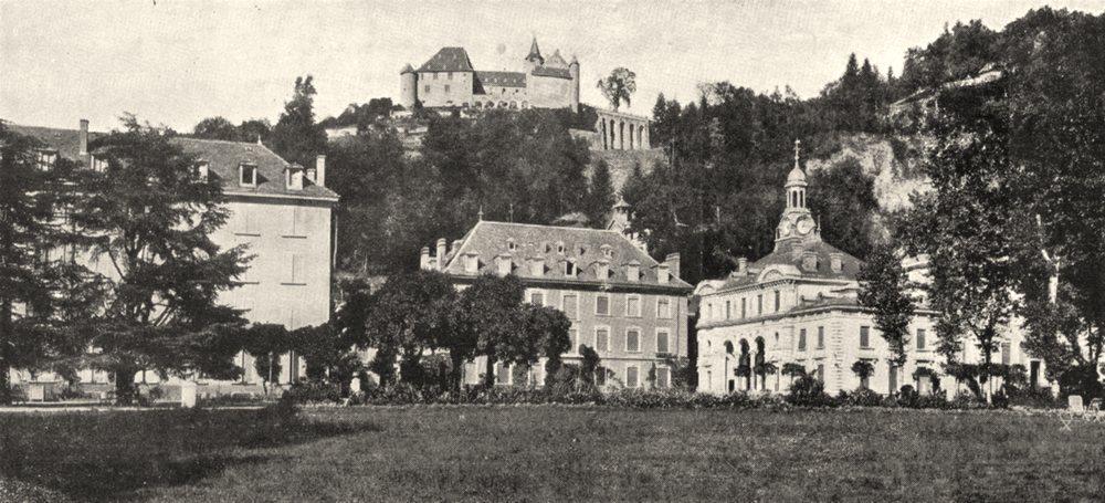 Associate Product ISÈRE. Uriage. Le Chateau et L'etablissement thermal 1900 old antique print