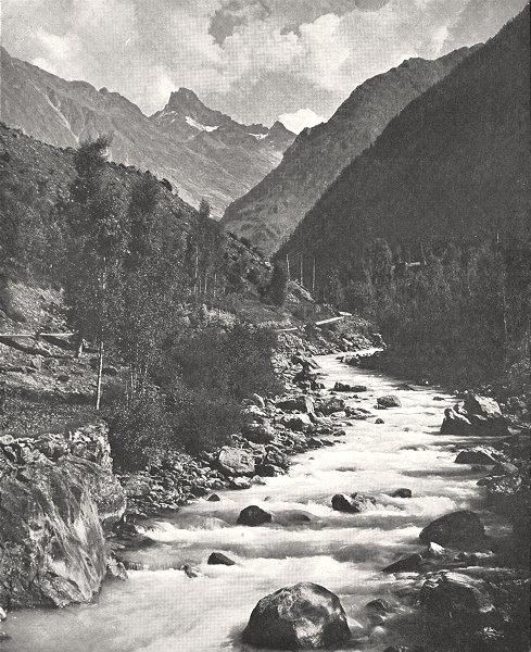 Associate Product HAUTES- ALPES. Vallée de la Romanche 1900 old antique vintage print picture