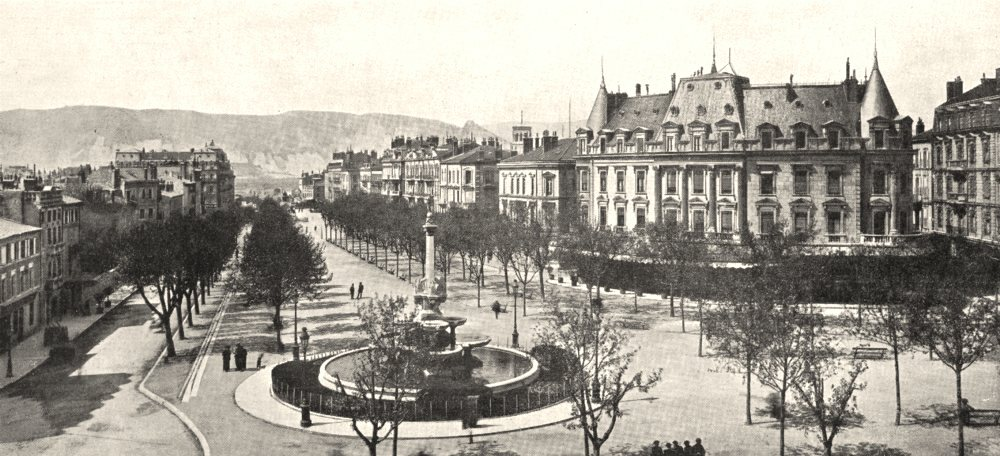 Associate Product DRÔME. Valence. Perspective du Boulevard Bancel 1900 old antique print picture