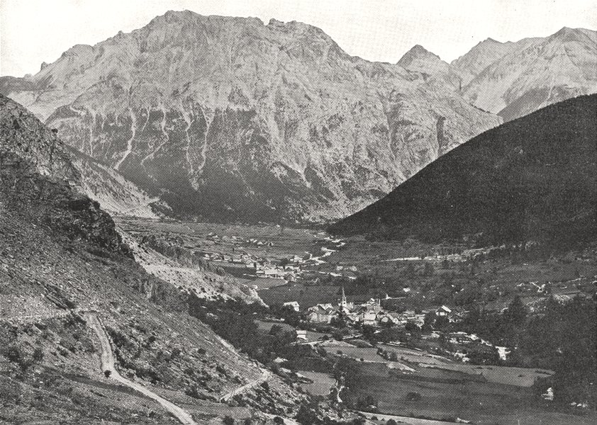 Associate Product HAUTES- ALPES. Névache et la vallée de la Clarée 1900 old antique print
