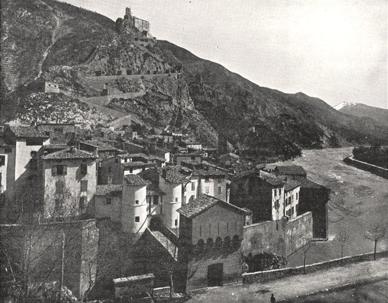 Associate Product VAR. Entrevaux sur le Var (Basses- alpes)  1900 old antique print picture