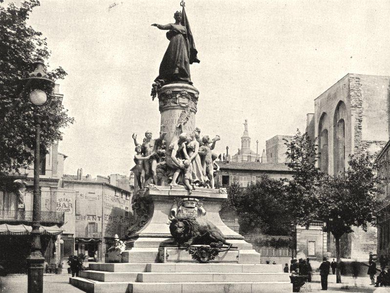 Associate Product AVIGNON. Monument Commémoratif de Réunion du comtat Venaissin a France 1900
