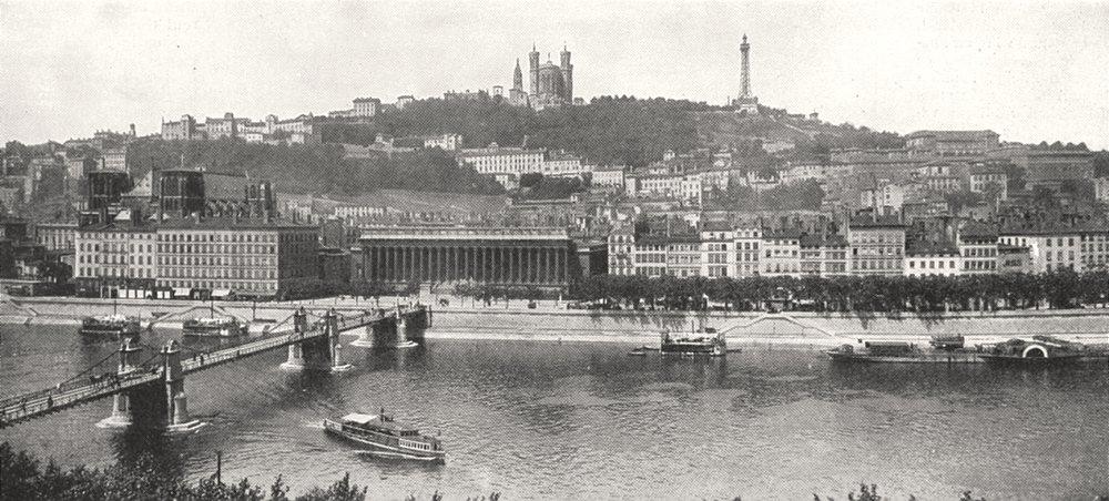 Associate Product RHÔNE. Lyon. Panorama du Coteau de Fourvières 1900 old antique print picture