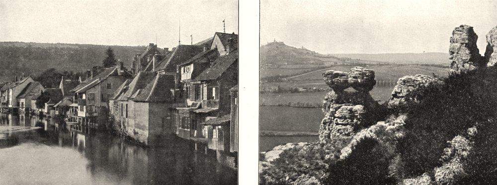Associate Product DOUBS. La Loue, a Ornans; Le Sabot de Frotey 1900 old antique print picture