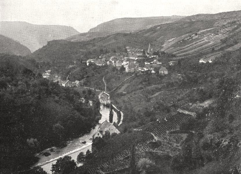 Associate Product DOUBS. Vallée de la Loue, a Mouthier 1900 old antique vintage print picture