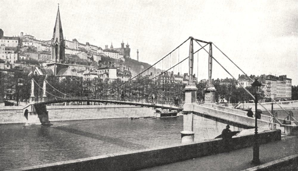 Associate Product RHÔNE. La Saône a Lyon. Église et Passerelle Saint- Georges 1900 old print