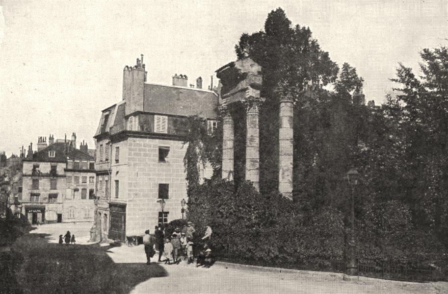 Associate Product DOUBS. Besançon. Le Square Archéologique 1900 old antique print picture