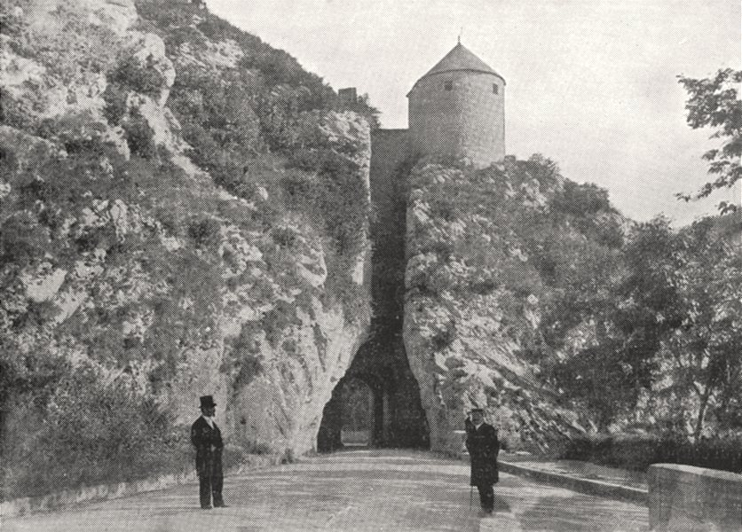 Associate Product DOUBS. Porte Percée, a Besançon 1900 old antique vintage print picture