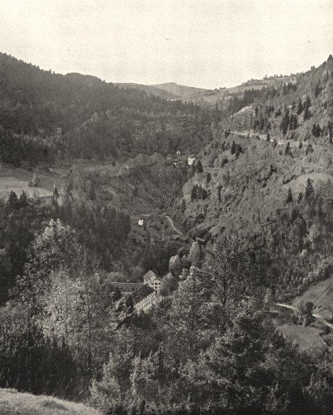 DOUBS. Vallée du Dessoubre, a Consolation 1900 old antique print picture