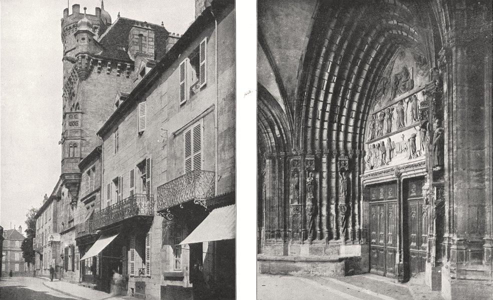 Associate Product HAUTE- SAÔNE. Luxeuil. La Maison Carrée; Portail de L'église de gray 1900