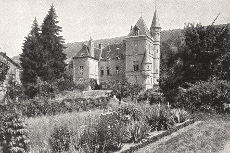 Associate Product SAÔNE- ET- LOIRE. Environs D'autun. Chateau de Montjeu 1900 old antique print