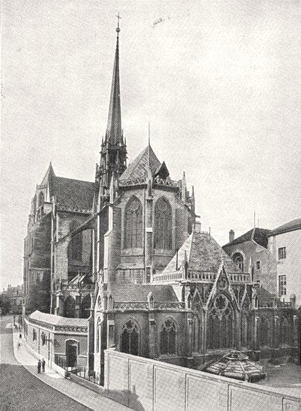Associate Product CÔTE- D'OR. Abside de la Cathédrale Saint- Bénigne 1900 old antique print