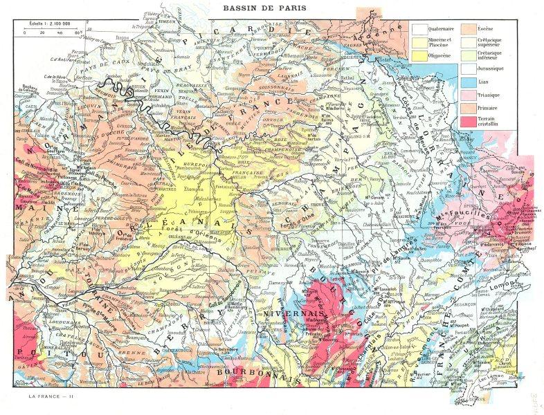 Associate Product PARIS. Bassin de Paris 1900 old antique vintage map plan chart