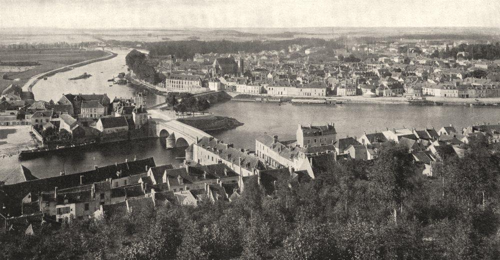 Associate Product YONNE. Confluent de L'yonne et de la Seine, a Montereau 1900 old antique print