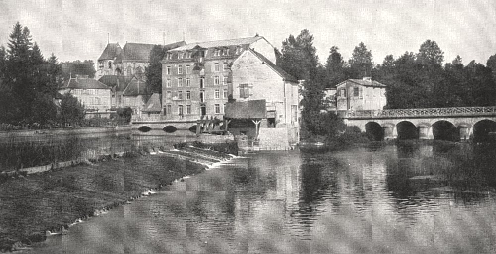 Associate Product AUBE. Les Bords de la Seine a Bar- sur- seine 1900 old antique print picture
