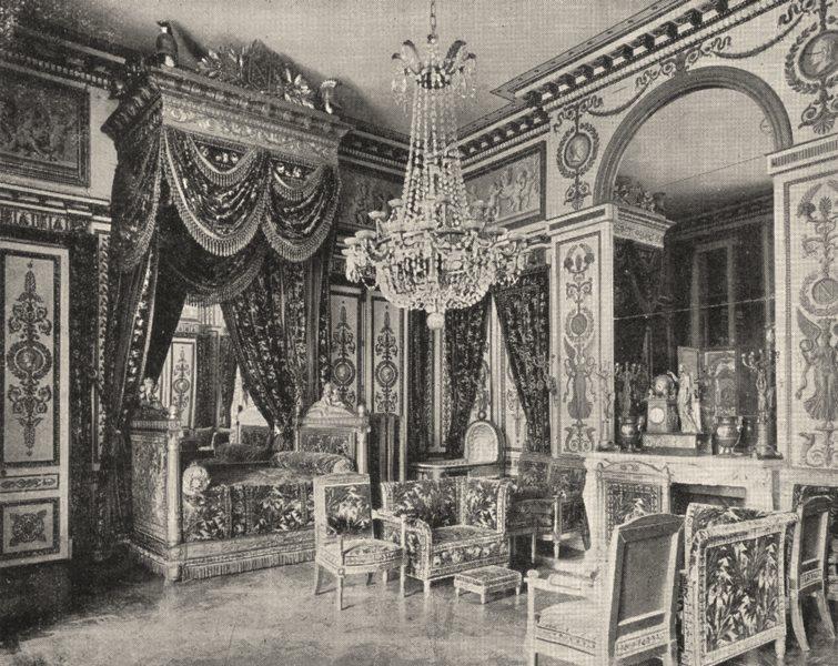 Associate Product SEINE- ET- MARNE. Fontainebleau. Chambre a coucher de Napoléon Ier 1900 print