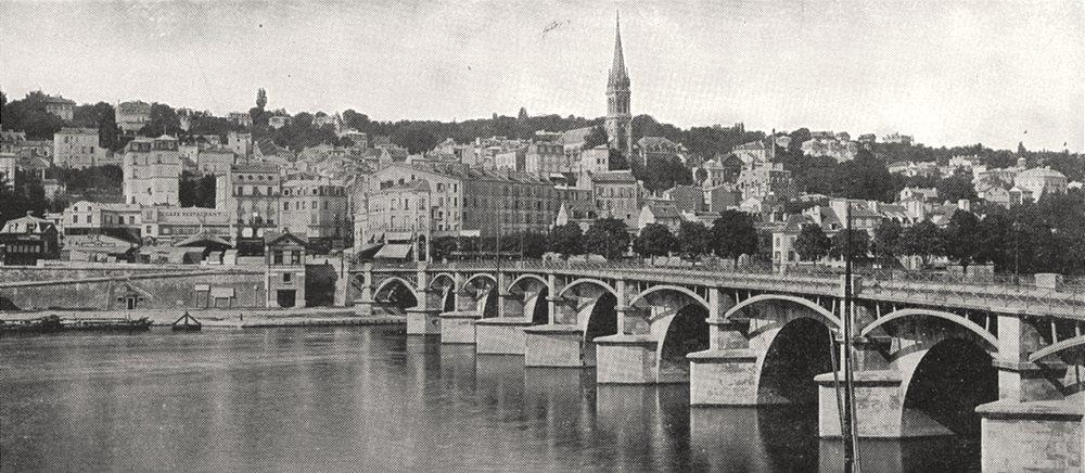 Associate Product HAUTS- DE- SEINE. Vue Générale de Saint- cloud 1900 old antique print picture