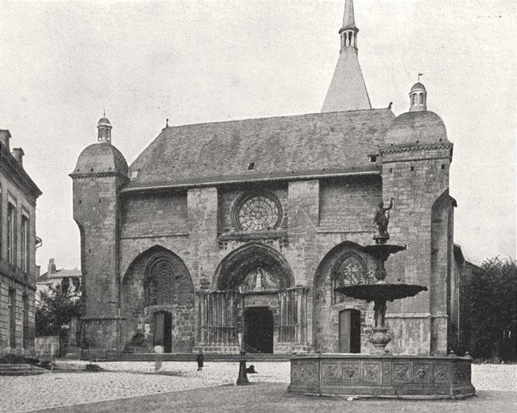 Associate Product HAUTE- MARNE. Façade de L'église de Wassy (Sur la Blaise)  1900 old print