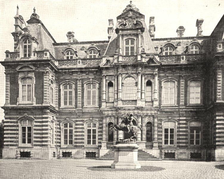Associate Product MARNE. Épernay. Façade du Chateau Perrier 1900 old antique print picture