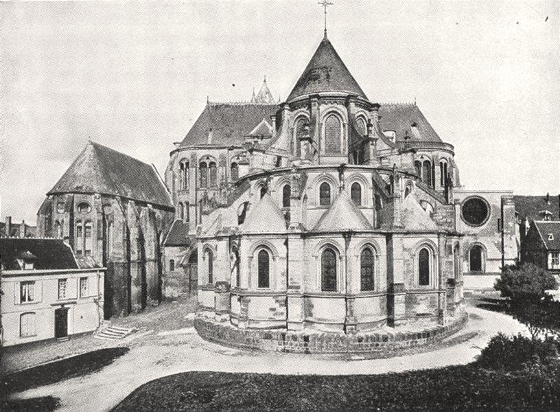 Associate Product OISE. Abside de la Cathédrale de Noyon 1900 old antique vintage print picture