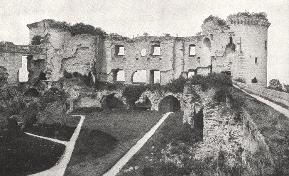Associate Product AISNE. Intérieur des Ruines du Chateau de Coucy 1900 old antique print picture