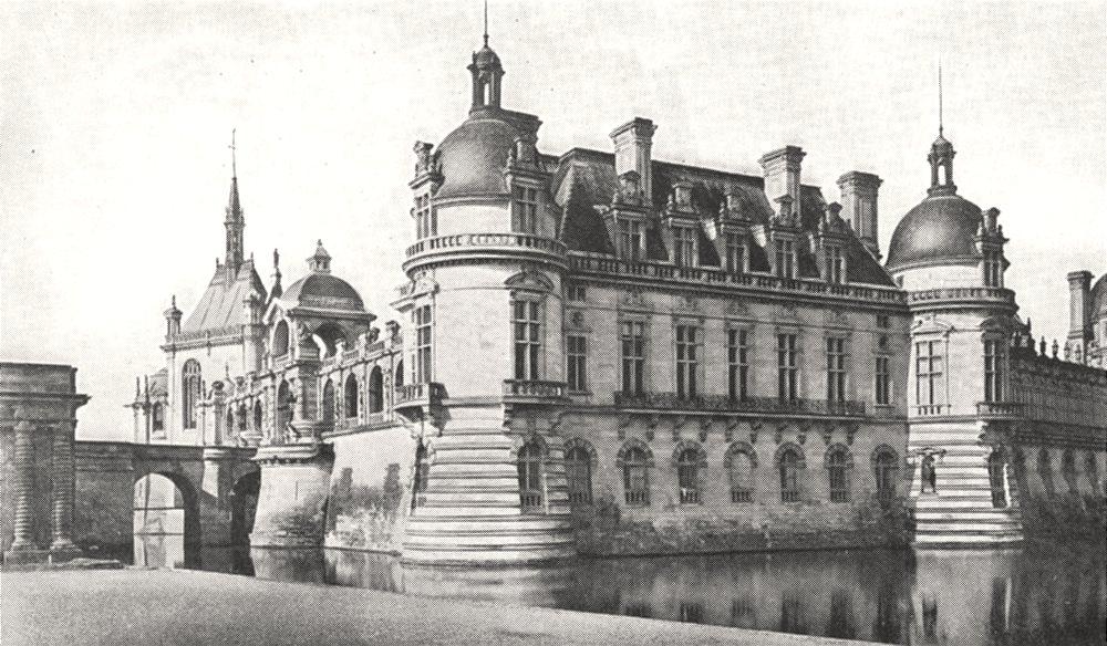 Associate Product OISE. Le Chateau de Chantilly, vu du Parterre 1900 old antique print picture