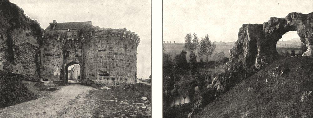 Associate Product YONNE. Vézelay. La Porte Neuve; Pierre Pertuis, sur la cure 1900 old print