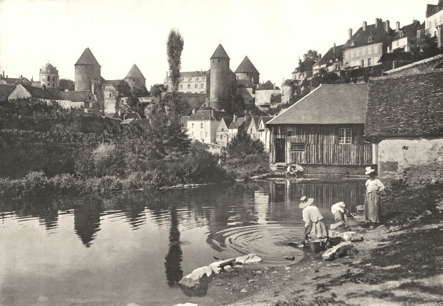Associate Product CÔTE- D'OR. Semur. Le Chateau et les Bords de L'Armançon 1900 old print