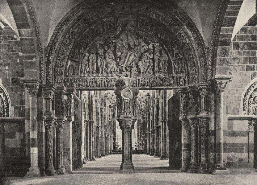 Associate Product YONNE. Vézelay. Portail et Nef de L'église de la Madeleine 1900 old print