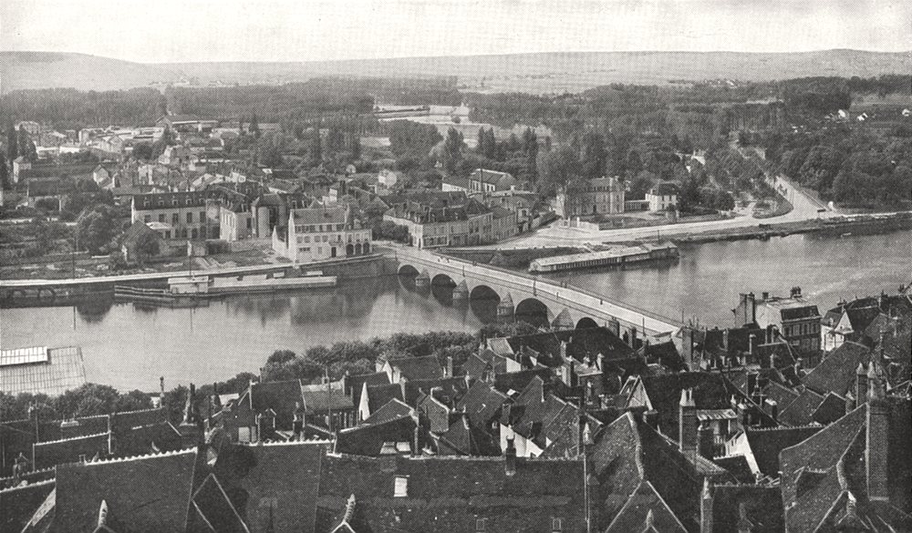 Associate Product YONNE. L'Yonne a Joigny 1900 old antique vintage print picture