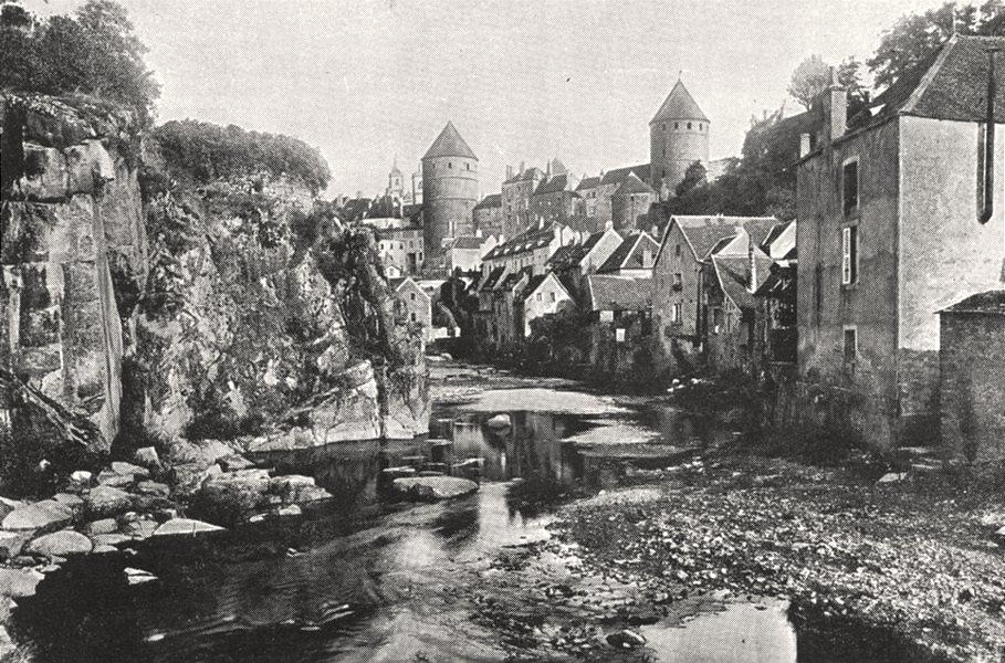 Associate Product PARIS. Semur. Les Bords de L'Armançon et le Donjon 1900 old antique print