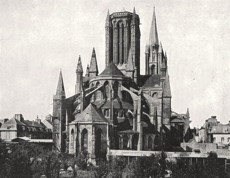 Associate Product MANCHE. Abside de la Cathédrale de coutances 1900 old antique print picture