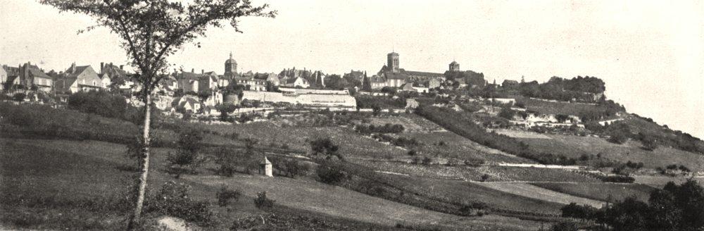 Associate Product YONNE. Vue Générale de Vézelay, prise de la route de Saint- Père 1900 print