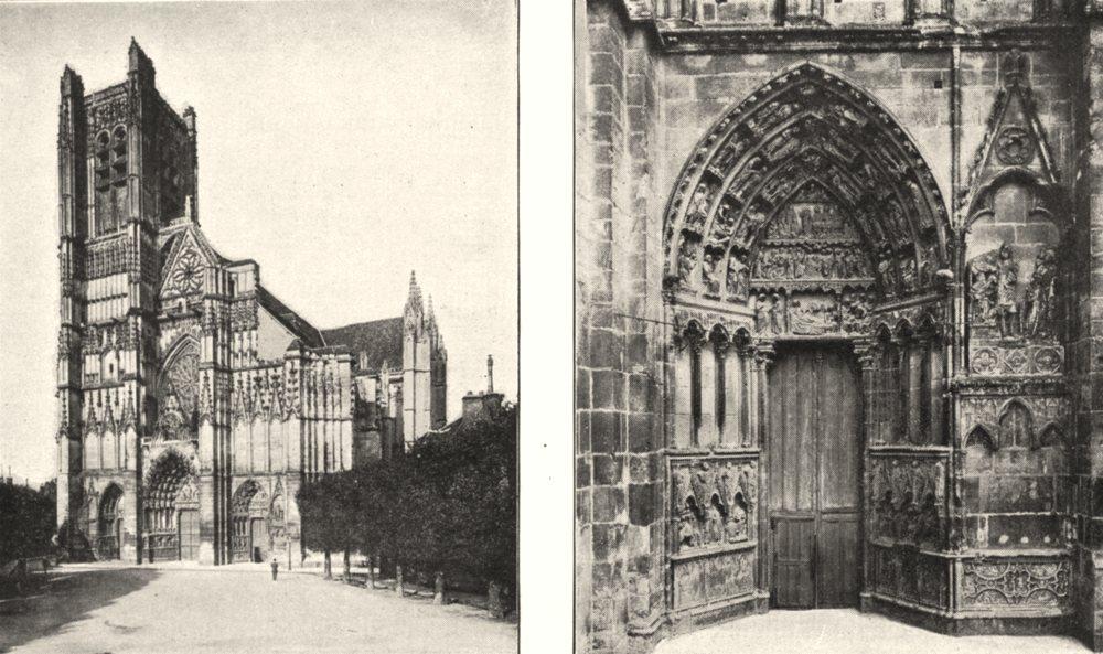Associate Product YONNE. Auxerre. Cathédrale Saint- Étienne; Petit Portail Saint- Étienne 1900