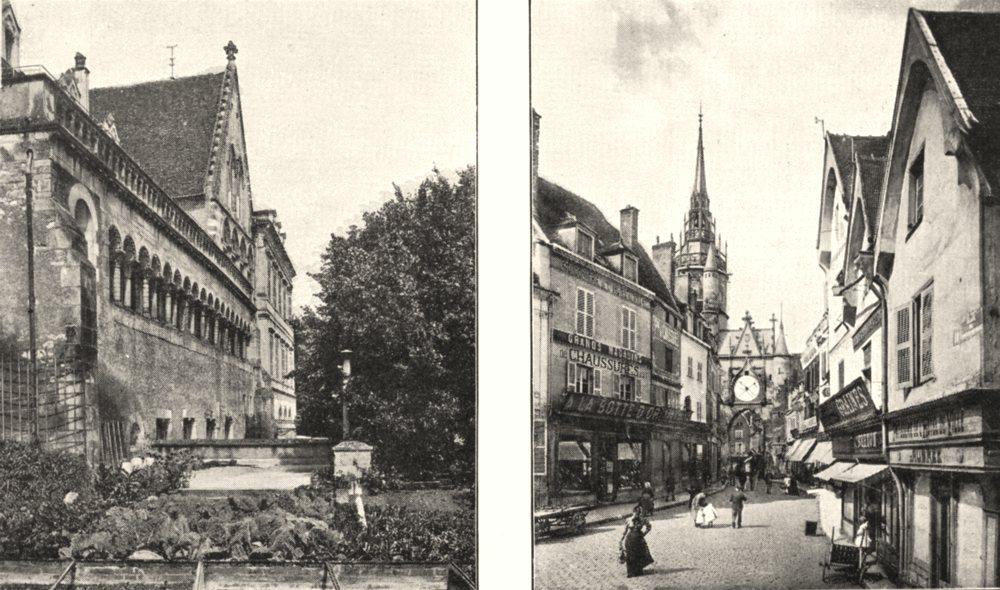 Associate Product YONNE. Préfecture D'Auxerre; Tour de L'horloge, a Auxerre 1900 old print