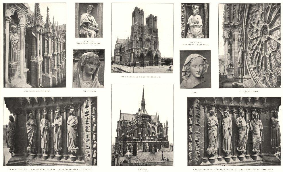 Associate Product REIMS.Cathédrale;Ébrasement Contreforts Vierge Musicien Voussure Ève Porche 1900